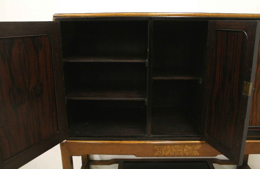 Antique Whytock & Reid Cabinet on Stand