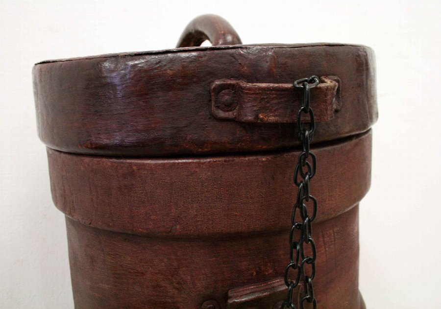 Antique World War I Leather Munitions Carrier