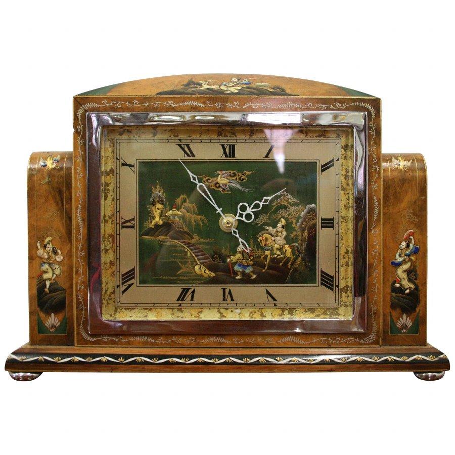 Antique Japanese Style Art Deco Clock Antiques Co Uk
