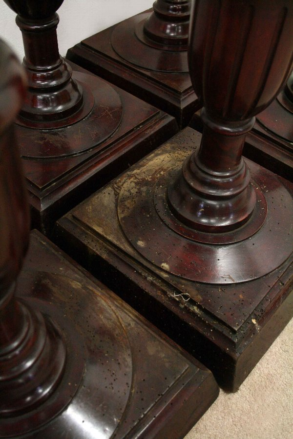 Antique Set of 6 Floorstanding Candleholders