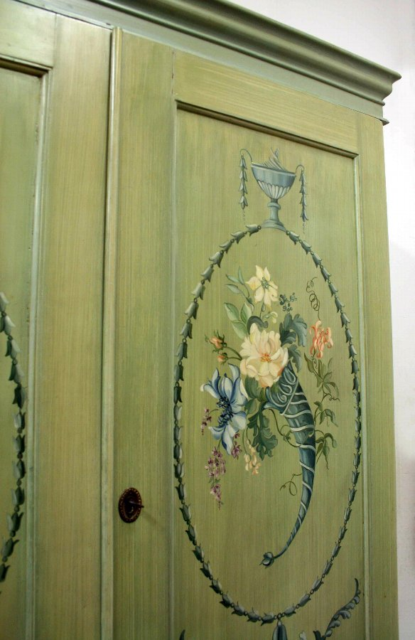 Antique Victorian Painted Pine Press