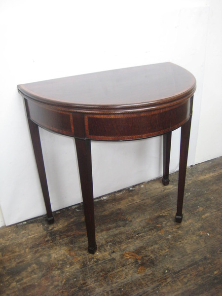 George III Mahogany Foldover Tea Table