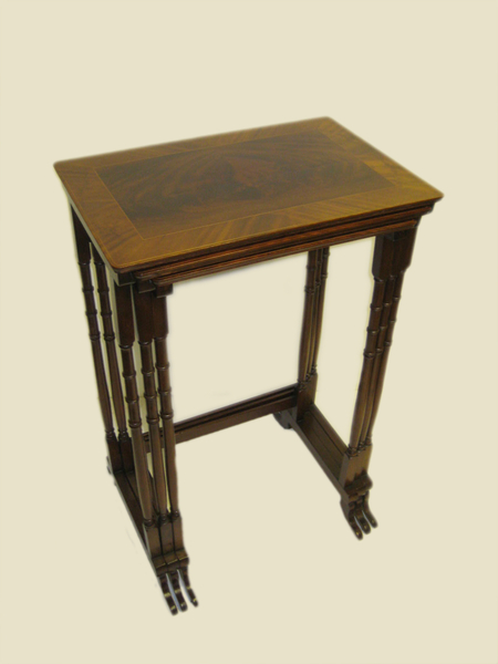 Nest of 3 Mahogany Sheraton Style Tables