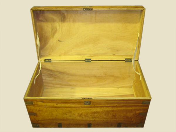 Antique Fully Restored Solid Camphor Wood Chest