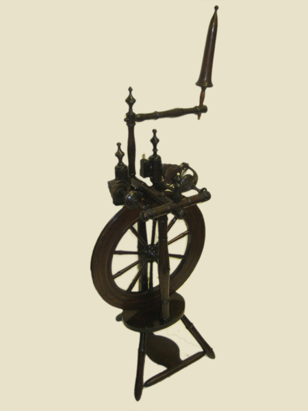 Antique Laburnum Spinning Wheel