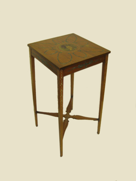 Edwardian Adams Style Painted Satinwood Occasional Table