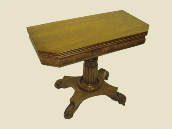 William IV Mahogany Foldover Tea Table