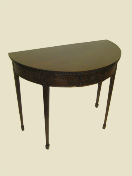 Adams Style Demi Lune Side Table