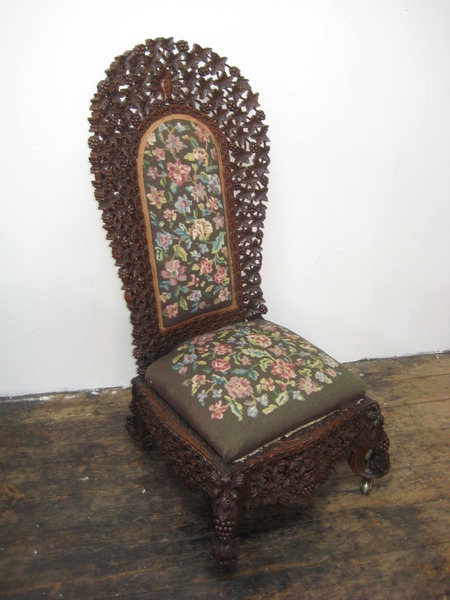 Burmese Carved Chair