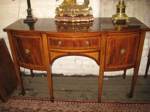 :SALE: Sheraton Revival Inlaid Mahogany Sideboard