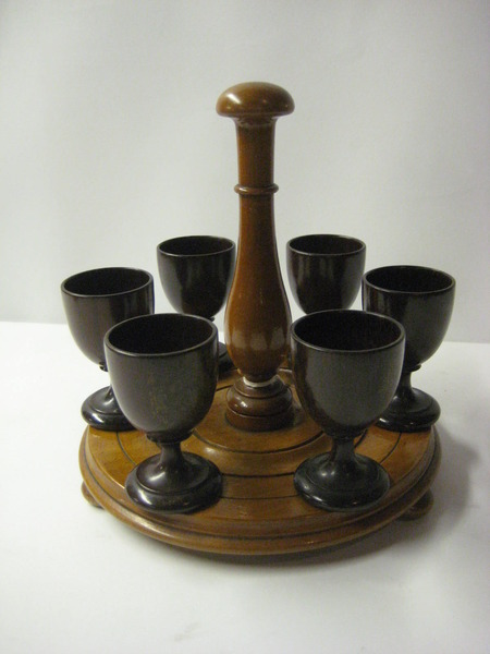 Treen Egg Cups and Stand