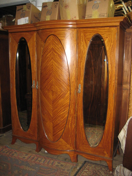 :SALE: Late Victorian Satinwood Wardrobe