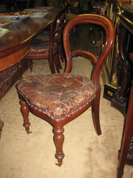 :SALE: Set of 10 Victorian Mahogany Balloon Back Dining Chairs