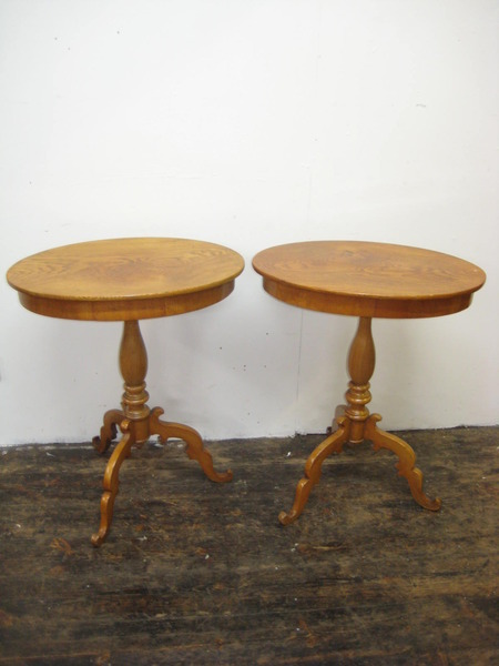Pair of Victorian Elm Occasional Tables