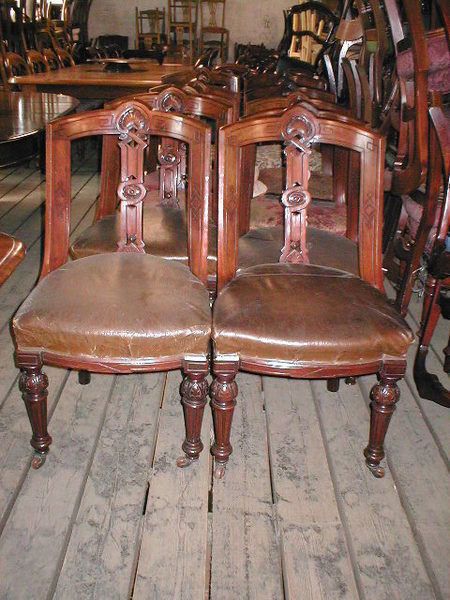 :SALE: Set of 10 Mahogany Dining Chairs