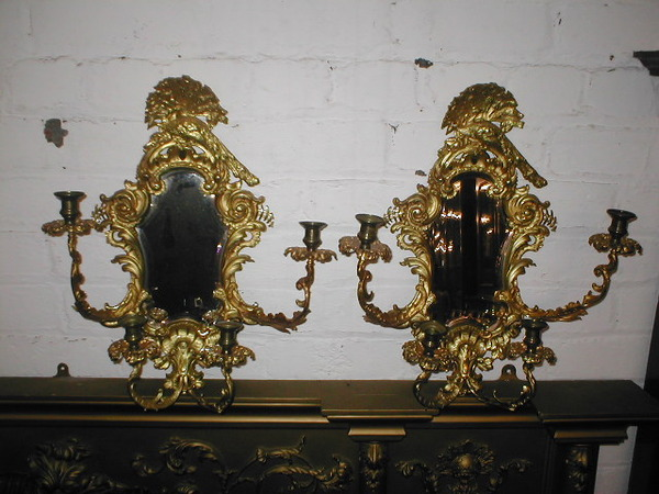 Pair of Ormolu Wall Sconces