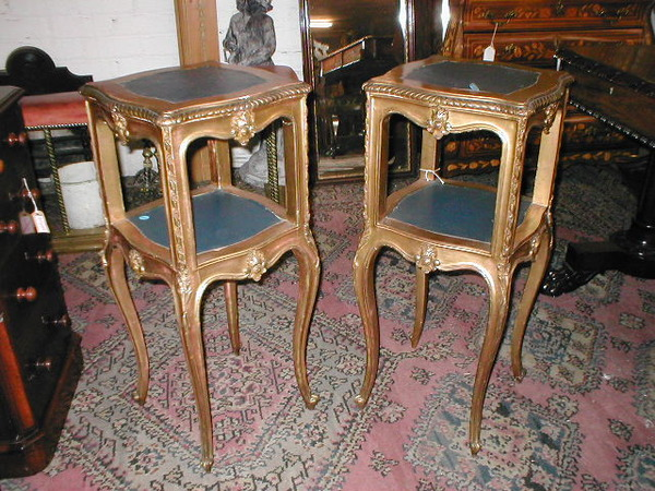 Pair of Carved Gilt Stands