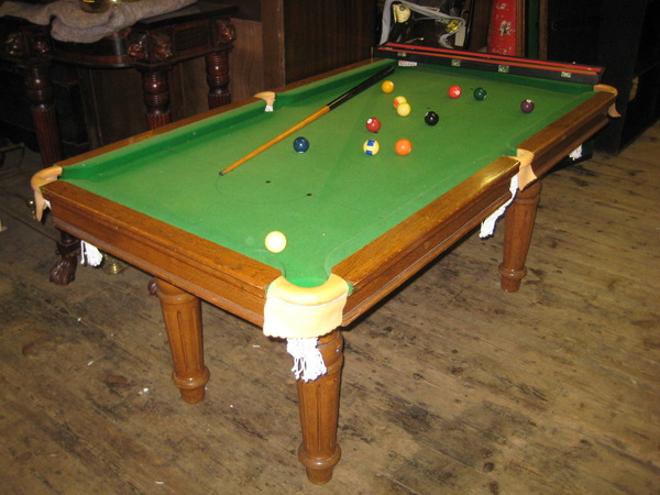 Oak Quarter Size Snooker Table