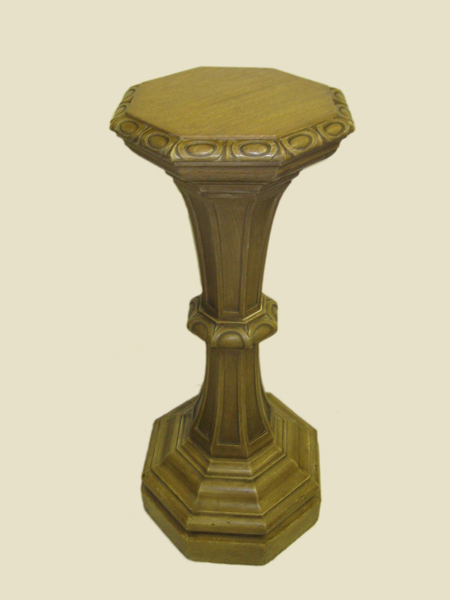 Neo Classical Style Bleached Oak Pedestal