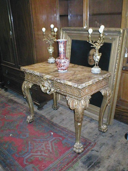 Carved Giltwood Side Table