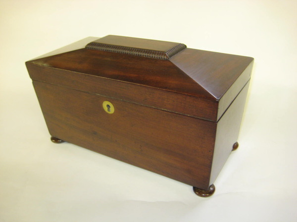George IV Mahogany Sarcophagus Tea Caddy