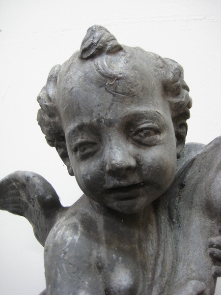 Antique Cast Lead Cherub