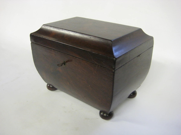 Regency Rosewood Sarcophagus Tea Caddy