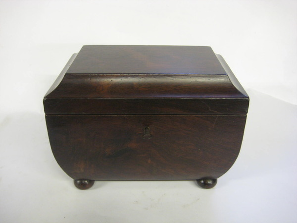 Antique Regency Rosewood Sarcophagus Tea Caddy