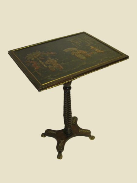 Rare Regency Japanned Occasional Table
