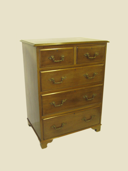 George III Style Solid Mahogany Chest of Drawers