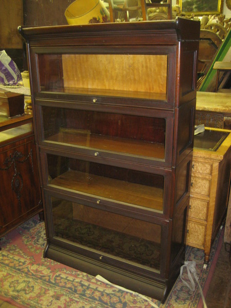 Mahogany Four Sectional/Stacker Bookcase