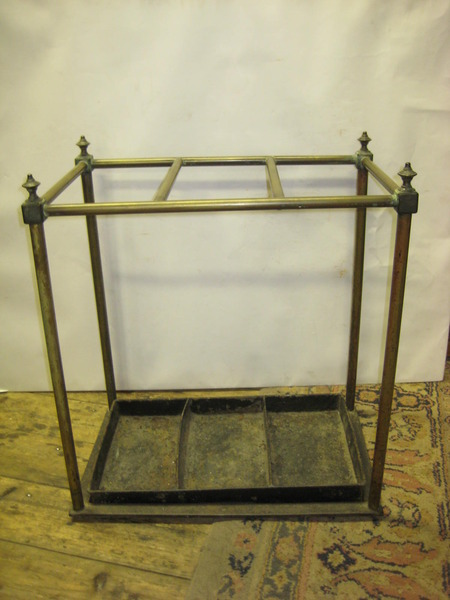 Large Brass and Cast Iron Country House Stick Stand