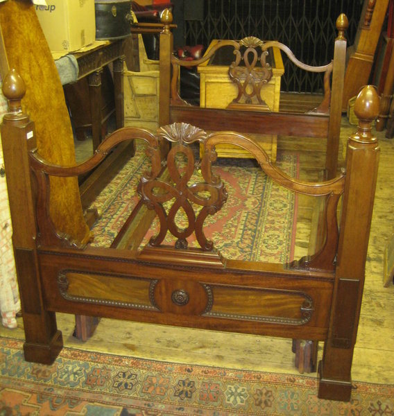 Victorian Mahogany Double Bed