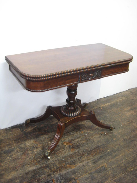 Georgian Mahogany Foldover Tea Table