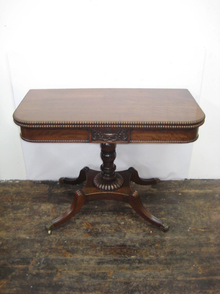 Antique Georgian Mahogany Foldover Tea Table