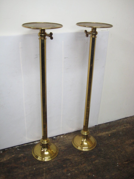 Pair of Lacquered Brass Telescope Stands