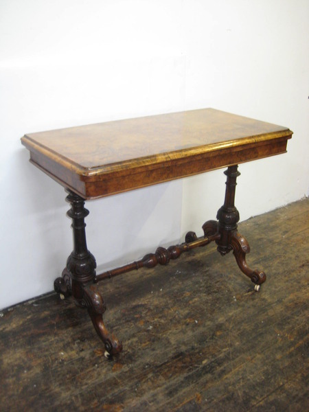 Burr Walnut Tea Table