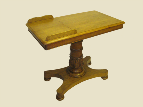 Unusual Oak William IV Reading Table