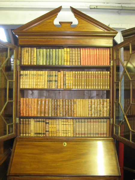 Antique George III Mahogany Bureau Bookcase