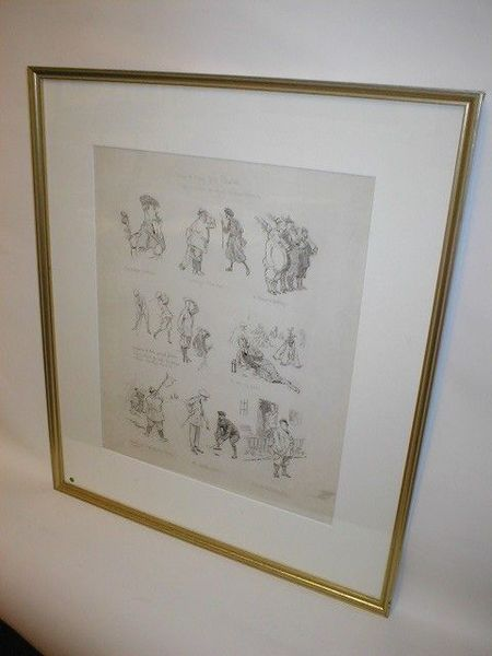 Antique Framed Golfing Montage by Frank Reynolds