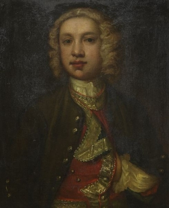 Antique Portrait of a young gentleman in court dress