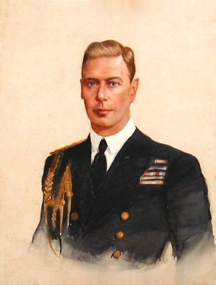 Antique Portrait of George VI (1895-1952)