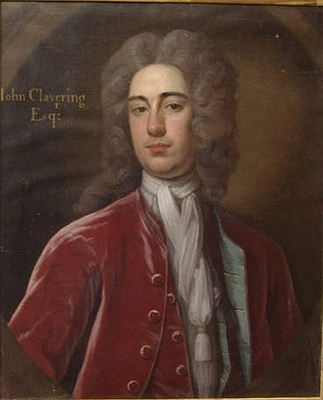 Antique Portrait of John Clavering MP, 1698 - 1762