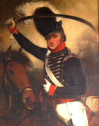 Antique Portrait of Robert Ashby 1774- ,  non commiss..Officer  of the London Volunteers