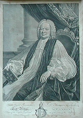 Antique Portrait of the Rt Rev Thomas Sherlock, Bishop of London 1678-1761