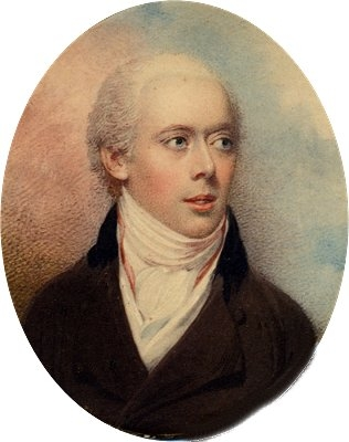 Antique Portrait of Young Man in Black Coat