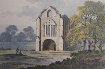 Antique Tintern Abbey on the River Wye, Monmouthshire
