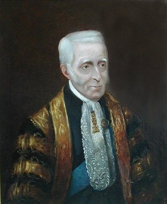 Antique Arthur  Wellesley  Duke of Wellington 1769-1852 ,  wearing the robes of the Chan