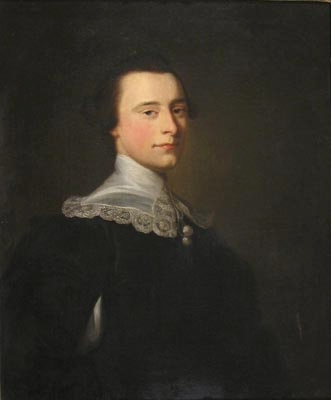 Antique Portrait of a Nobleman in Van Dyck dress by Thomas Bardwell