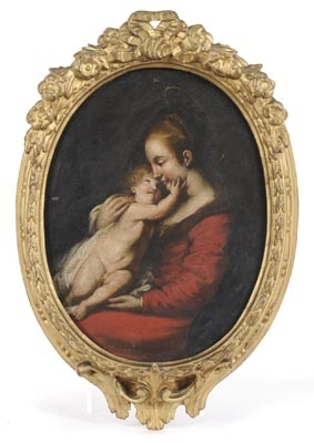 Antique The Madonna and Child